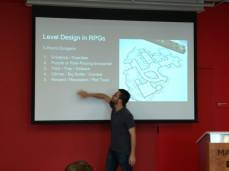 Me teaching a workshop on RPG design