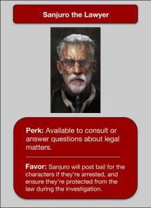 Sanjuro NPC Card