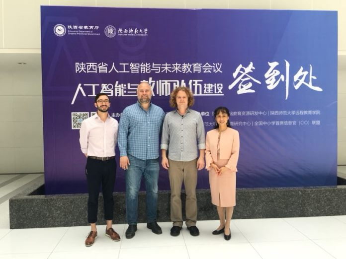 Presenting at the Shaanxi Normal University AI*Edu 2019 Symposium